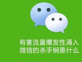 微信前产品经理杨茂巍:有害流量爆发性涌入,微信的杀手锏是什么
